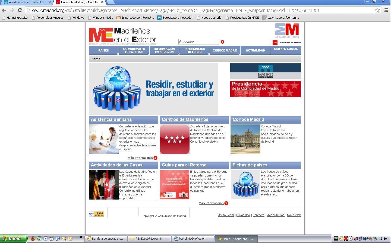 Portal madrile os en el exterior eurobit cora for Portal empleo madrid